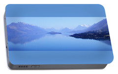 Portable Battery Charger featuring the photograph Lake Glenorchy New Zealand by Ann Lauwers