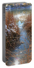 Lake Glitter Portable Battery Charger by Diane Alexander