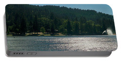 Scenic Lake Photography In Crestline California At Lake Gregory Portable Battery Charger