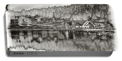 Lake House Reflection Portable Battery Charger