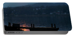 Lake J Sunset Portable Battery Charger by Craig T Burgwardt