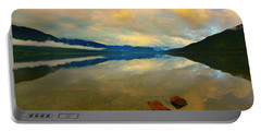 Lake Kaniere New Zealand Portable Battery Charger by Amanda Stadther