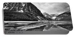 Lake Louise - Black And White #3 Portable Battery Charger