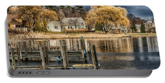 lake Michigan Portable Battery Charger by Kevin Cable