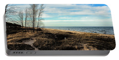 Portable Battery Charger featuring the photograph Lake Michigan Shoreline by Lauren Radke