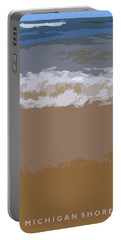 Lake Michigan Shoreline Portable Battery Charger by Michelle Calkins