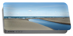 Lake Michigan Waterway  Portable Battery Charger by Verana Stark
