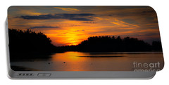 Portable Battery Charger featuring the photograph Lake Naomi Pocono Sunset by Gary Keesler