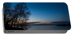 Portable Battery Charger featuring the photograph Lake Ontario Blue Hour by Georgia Mizuleva