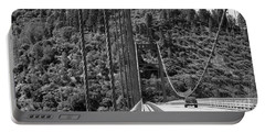 Lake Oroville Bridge Black And White Portable Battery Charger
