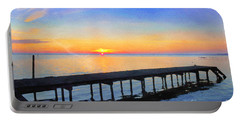 Lake Sunrise - Watercolor Portable Battery Charger
