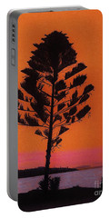 Portable Battery Charger featuring the drawing Lake Sunset by D Hackett