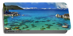 Lake Tahoe Cove Portable Battery Charger by Dominic Piperata