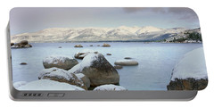 Lake Tahoe In Wintertime, Nevada Portable Battery Charger