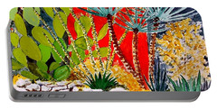 Lake Travis Cactus Garden Portable Battery Charger by Fred Jinkins