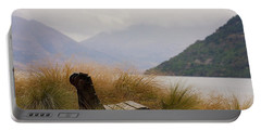 Lake Wakatipu Bench Portable Battery Charger by Stuart Litoff