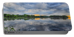 Lake Wausau Summer Sunset Panoramic Portable Battery Charger