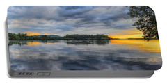 Lake Wausau Summer Sunset Panoramic Portable Battery Charger