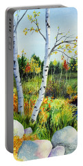 Lakeside Birches Portable Battery Charger