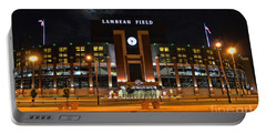Lambeau Field At Night Portable Battery Charger