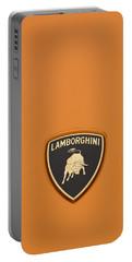 Lambo Hood Ornament Orange Portable Battery Charger