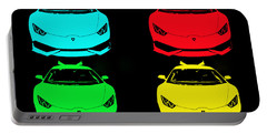 Portable Battery Charger featuring the photograph Lambo Pop Art by J Anthony