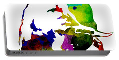 Lamborghini Bull Emblem Colorful Abstract. Portable Battery Charger by Eti Reid
