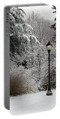 Lamp Post In Winter Portable Battery Charger