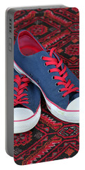 Portable Battery Charger featuring the photograph Lance's Shoes by E Faithe Lester
