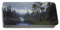 Landscape From Norway Portable Battery Charger