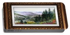 Landscape In Vintage Frame Portable Battery Charger