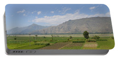 Portable Battery Charger featuring the photograph Landscape Of Mountains Sky And Fields Swat Valley Pakistan by Imran Ahmed