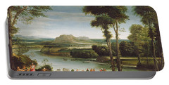 Landscape With St. John Baptising Portable Battery Charger