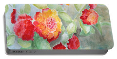Portable Battery Charger featuring the painting Lantana II by Marilyn Zalatan