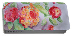 Portable Battery Charger featuring the painting Lantana by Marilyn Zalatan