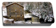 Lanterman's Mill In Winter Portable Battery Charger
