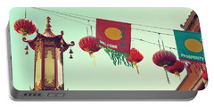 Lanterns Over Chinatown Portable Battery Charger by Cindy Garber Iverson