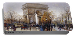 L'arc De Triomphe Paris Portable Battery Charger