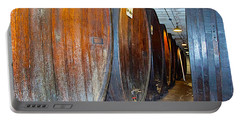 Large Barrels At Korbel Winery In Russian River Valley-ca Portable Battery Charger
