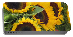 Large Sunflowers Portable Battery Charger by Chrisann Ellis