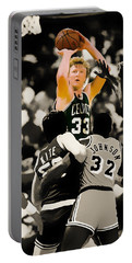 Larry Bird Portable Battery Charger by Brian Reaves