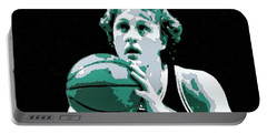 Larry Bird Poster Art Portable Battery Charger by Florian Rodarte