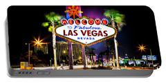 Las Vegas Sign Portable Battery Charger by Az Jackson