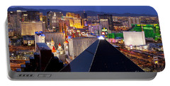 Las Vegas Skyline Portable Battery Charger by Brian Jannsen