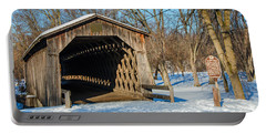 Last Covered Bridge Portable Battery Charger by Susan  McMenamin