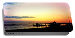 Portable Battery Charger featuring the photograph Last Light by Denyse Duhaime