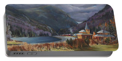 Last Train To Crawford Notch Depot Portable Battery Charger by Nancy Griswold