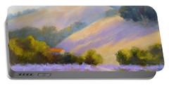 Late June Hills And Lavender Portable Battery Charger