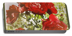 Late Summer Roses - Dreamy Portable Battery Charger