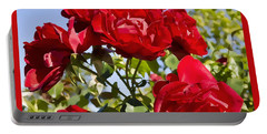 Late Summer Roses - Vibrant Portable Battery Charger